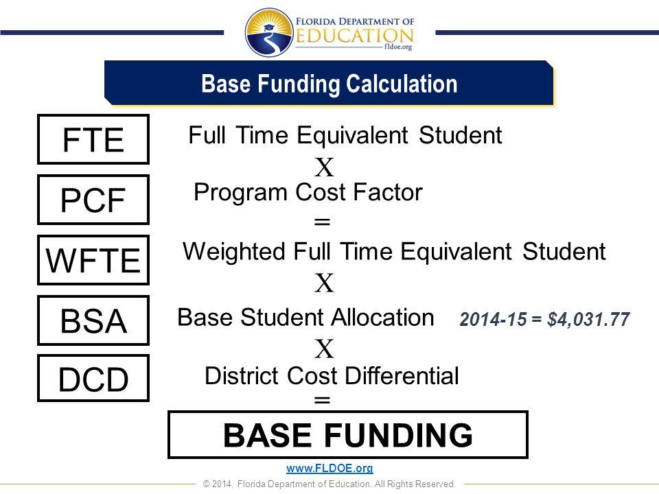 Base Funding Calculation