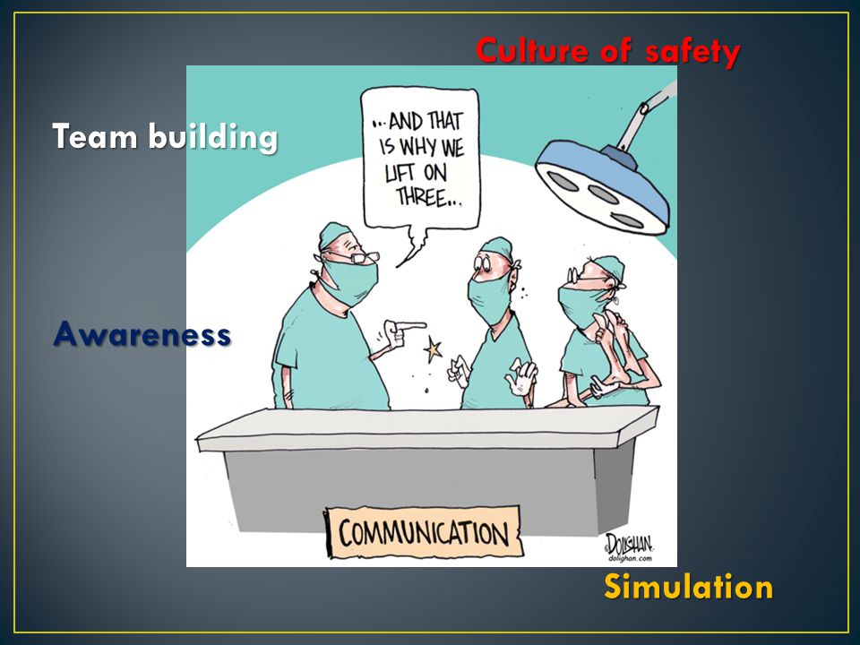 Culture of safety Team building Awareness Simulation