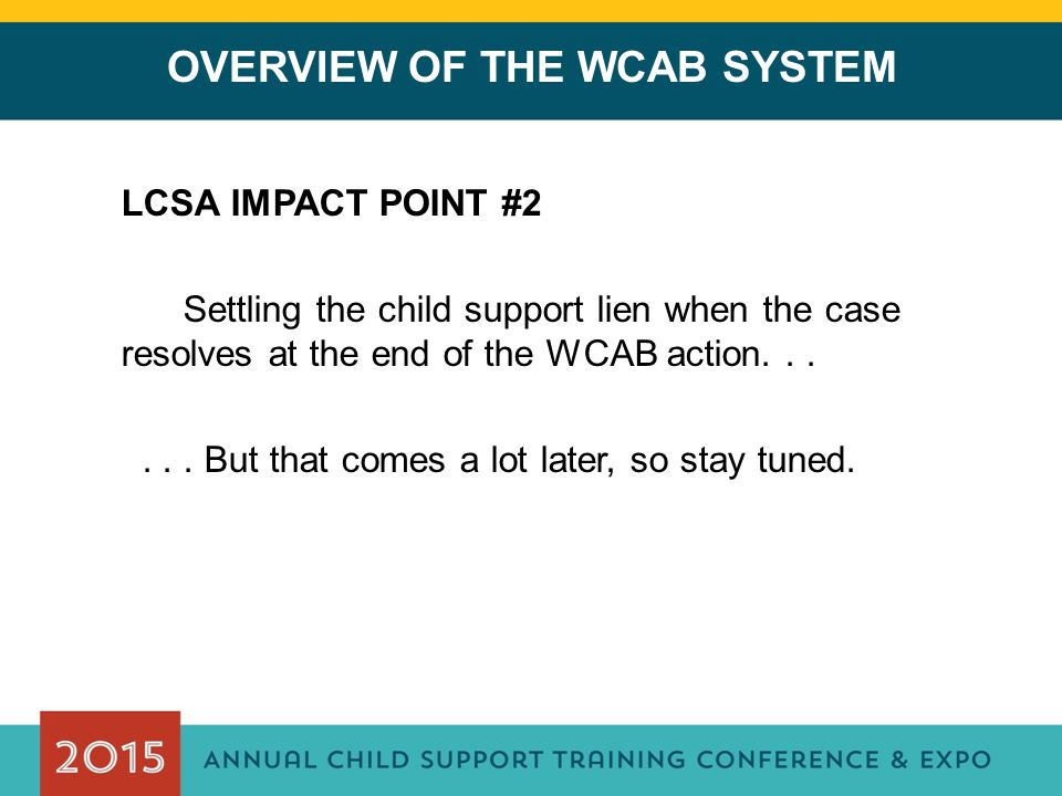 OVERVIEW OF THE WCAB SYSTEM
