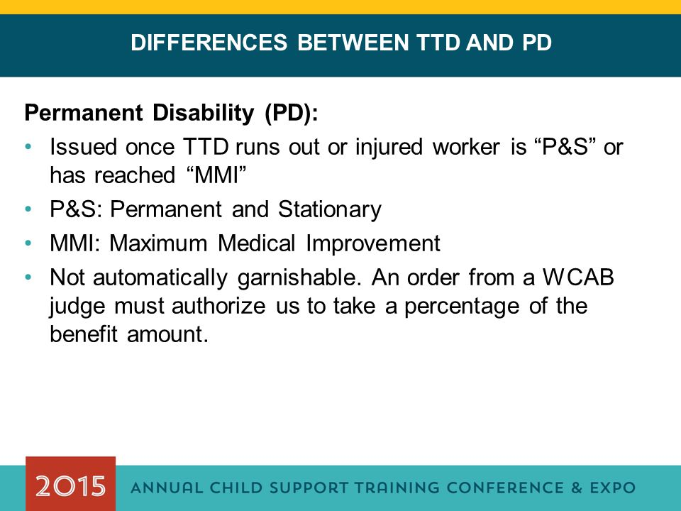 DIFFERENCES BETWEEN TTD AND PD