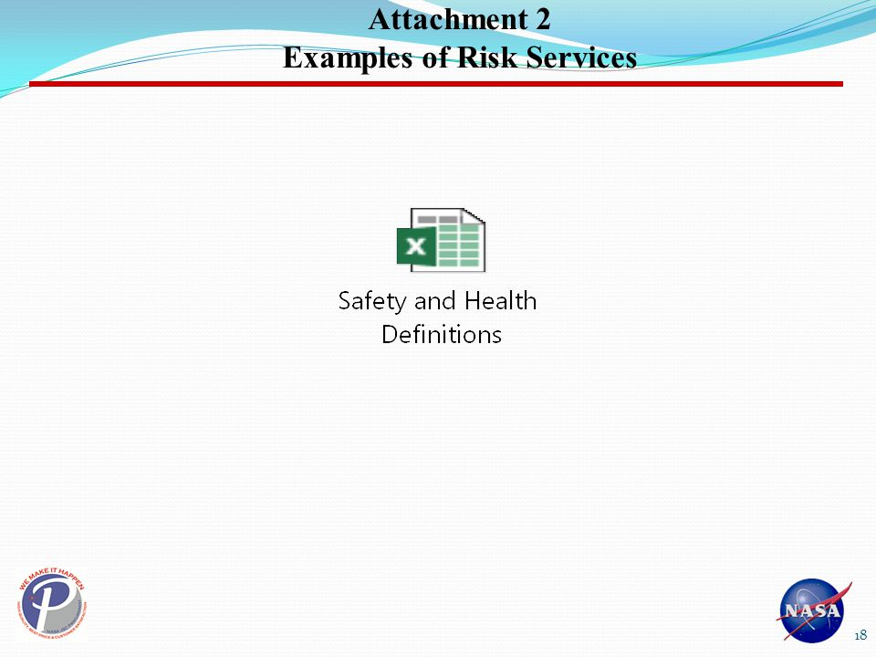 Attachment 2 Examples of Risk Services