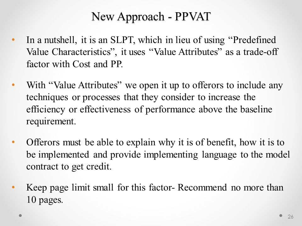 New Approach - PPVAT