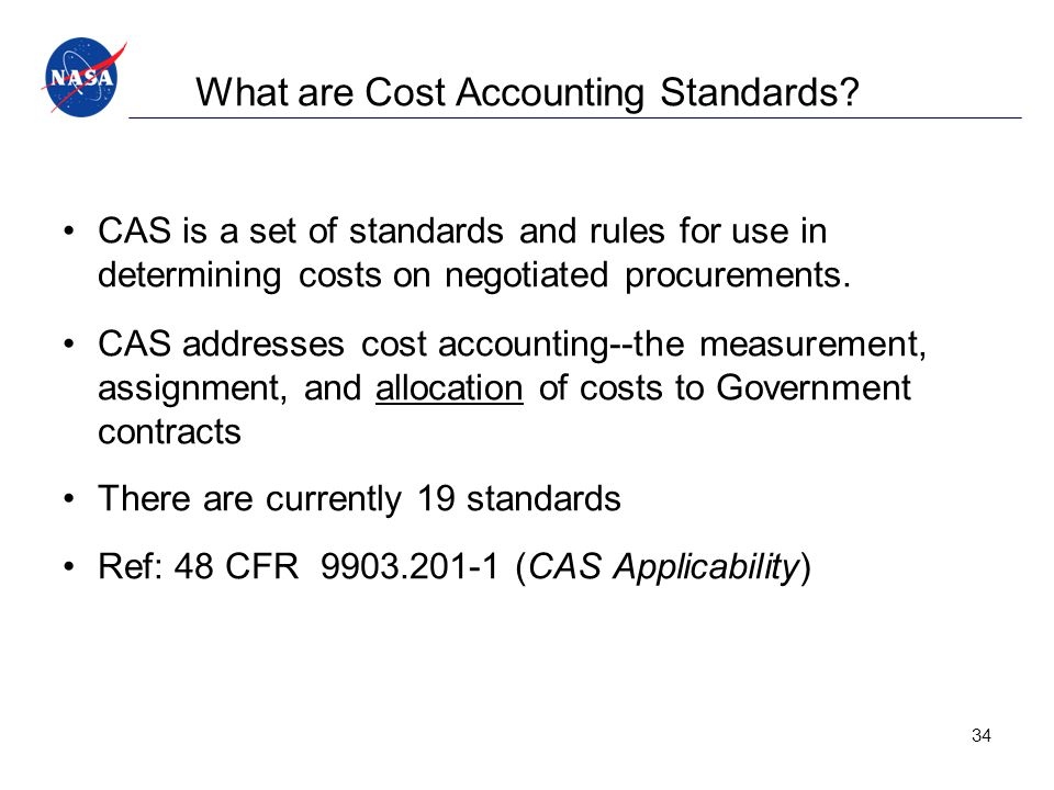 What are Cost Accounting Standards