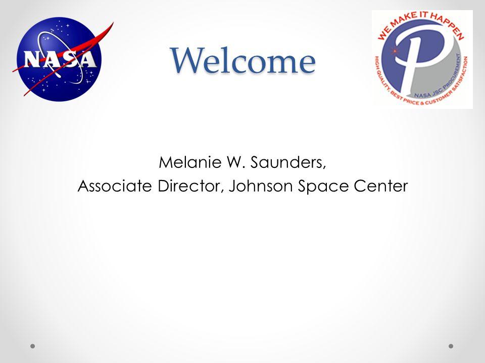 Melanie W. Saunders, Associate Director, Johnson Space Center