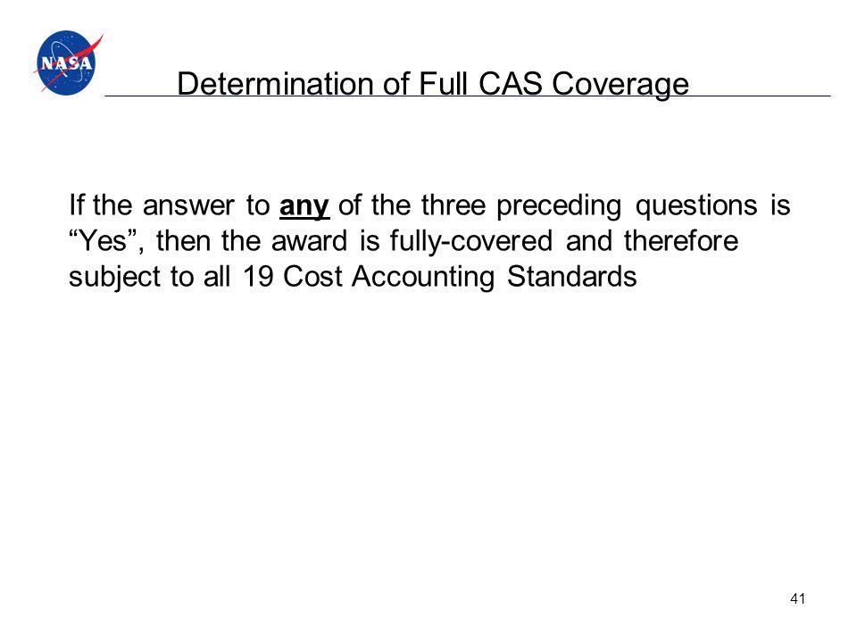 Determination of Full CAS Coverage