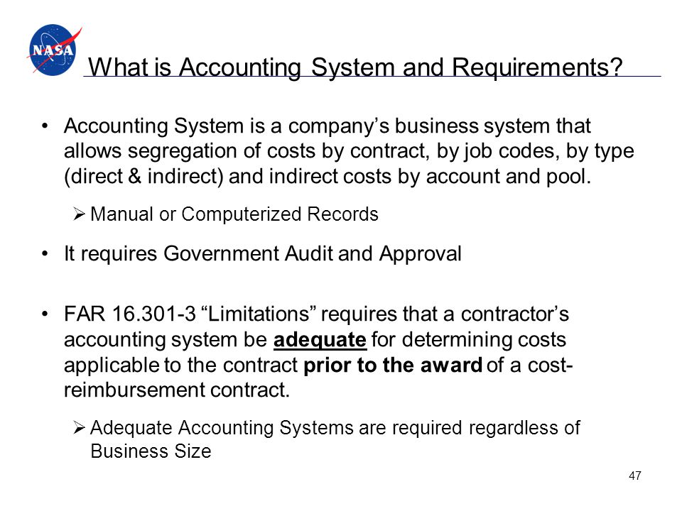 What is Accounting System and Requirements