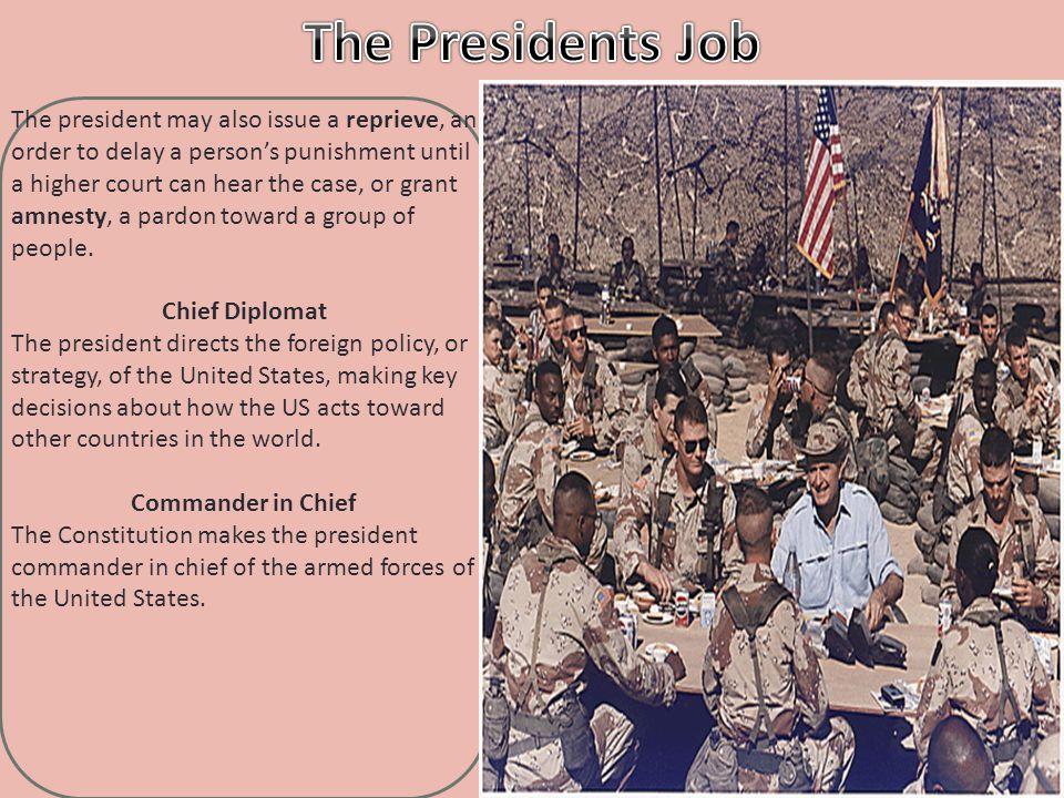 The Presidents Job