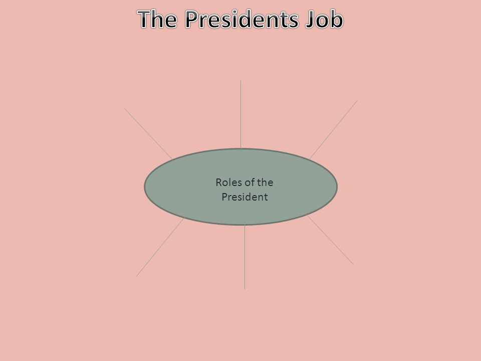 The Presidents Job Roles of the President
