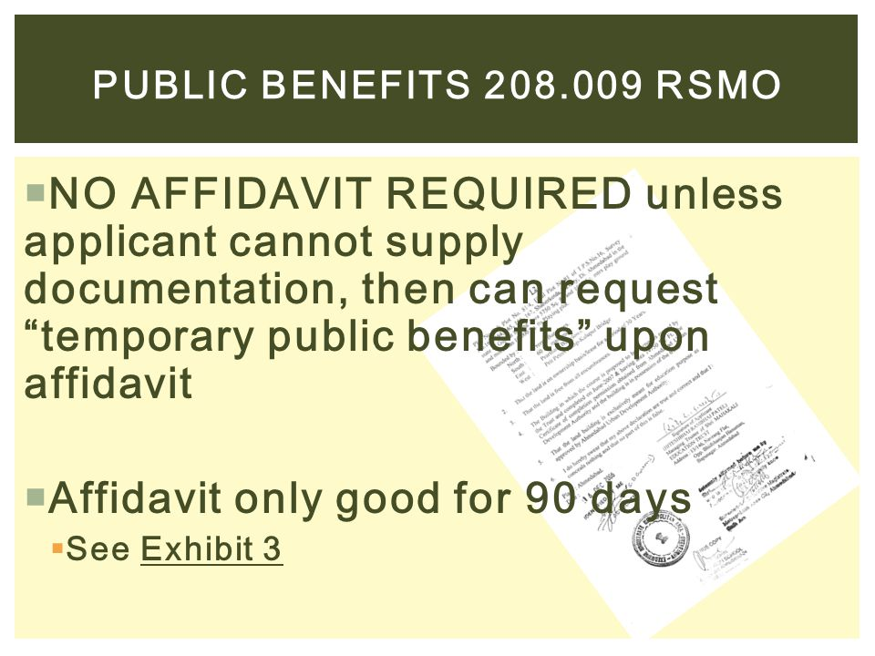 Affidavit only good for 90 days