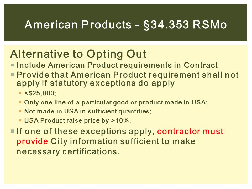 American Products - §34.353 RSMo