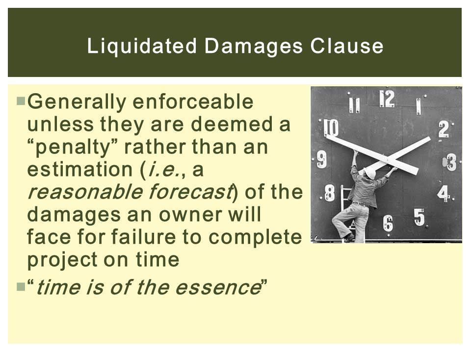 Liquidated Damages Clause