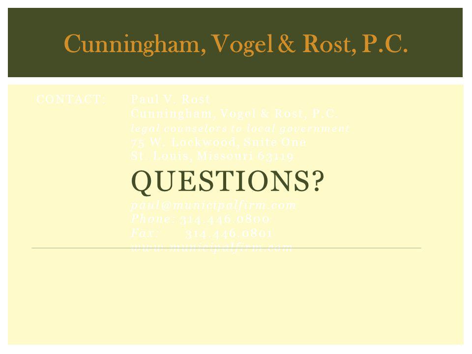Cunningham, Vogel & Rost, P.C.