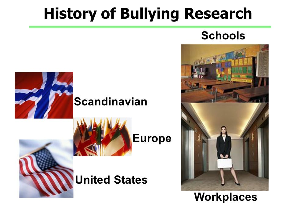 History of Bullying Research