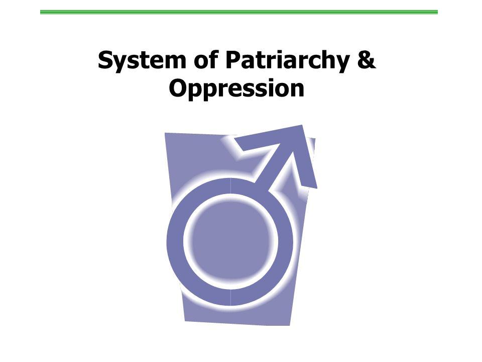 System of Patriarchy & Oppression