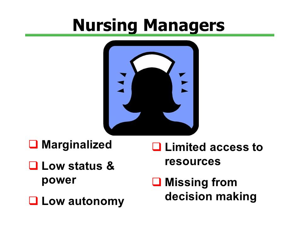 Nursing Managers Marginalized Limited access to resources