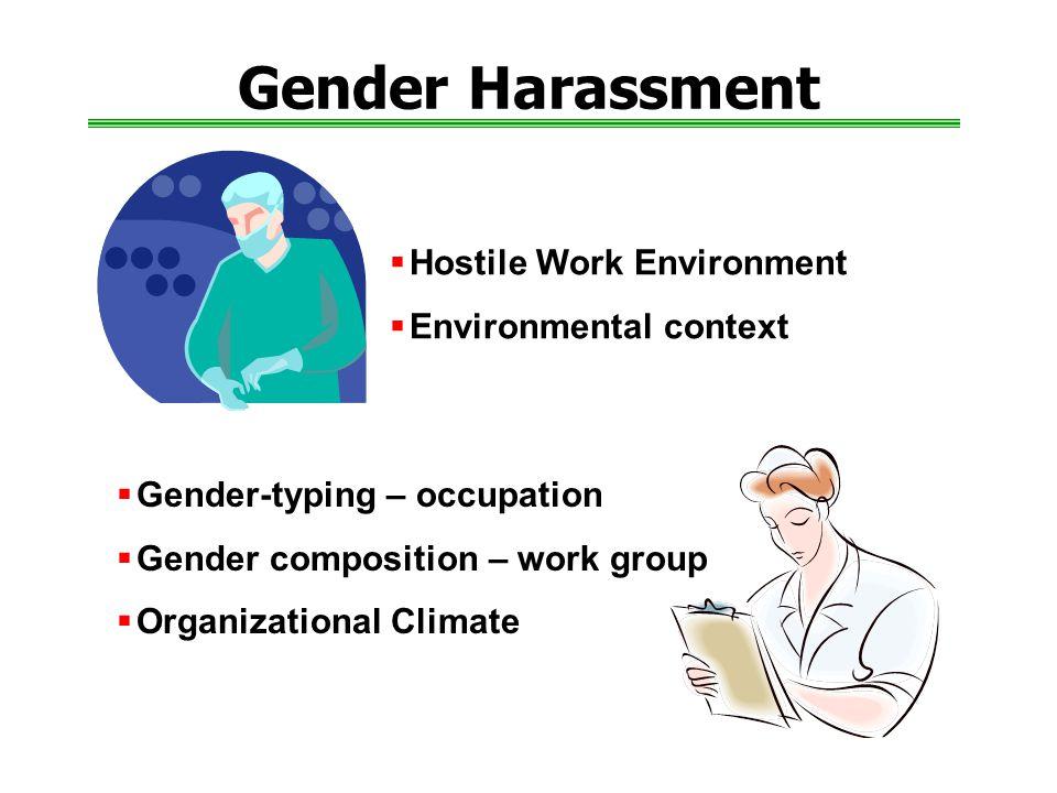 Gender Harassment Hostile Work Environment Environmental context
