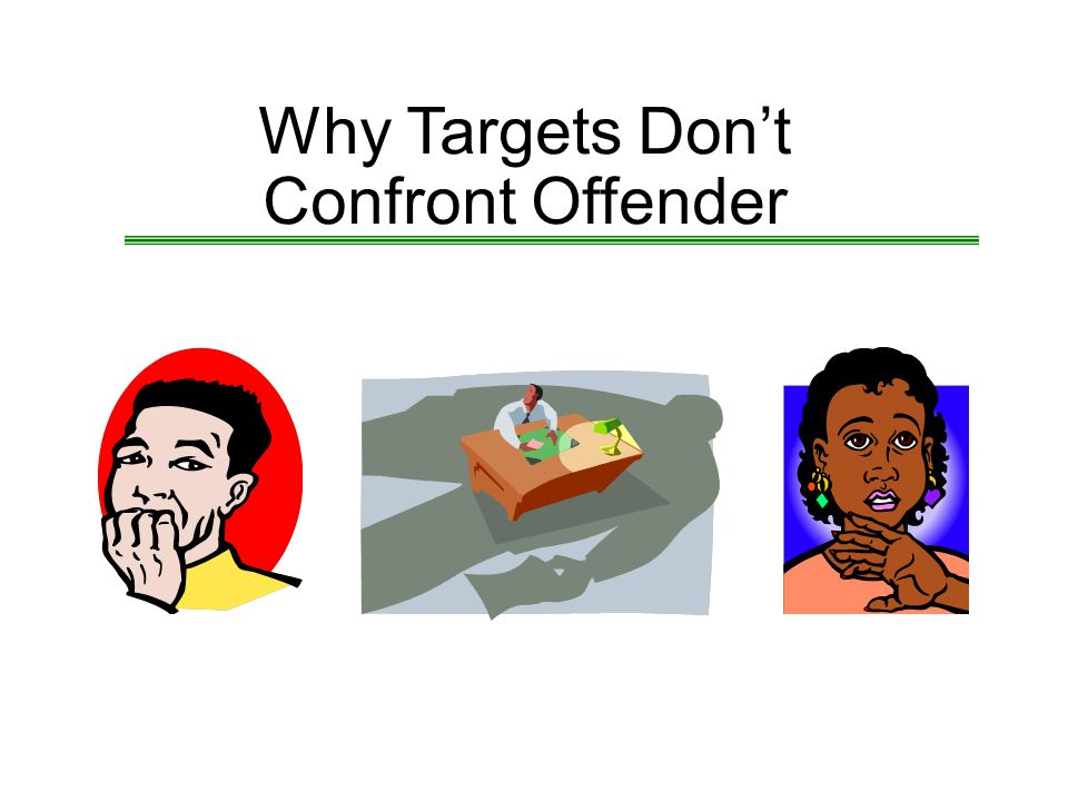Why Targets Don't Confront Offender