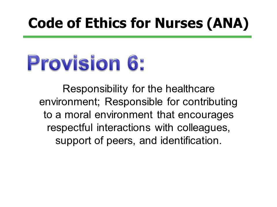 Code of Ethics for Nurses (ANA)