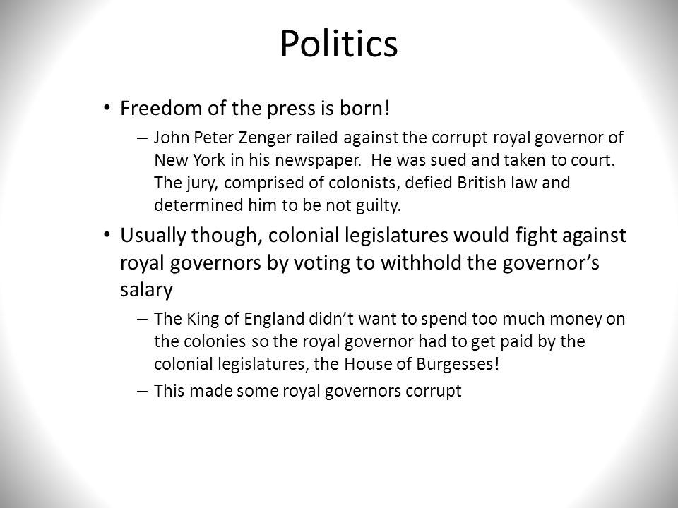 Politics Freedom of the press is born!
