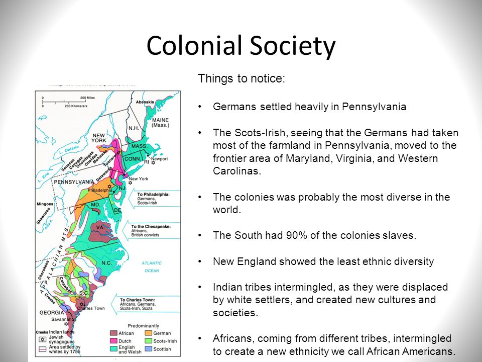 the diversity of american colonial societies American pageant: chapter 5, colonial society on the eve of the revolution   historical perspectives: melting pot or cultural diversity (tossed salad.