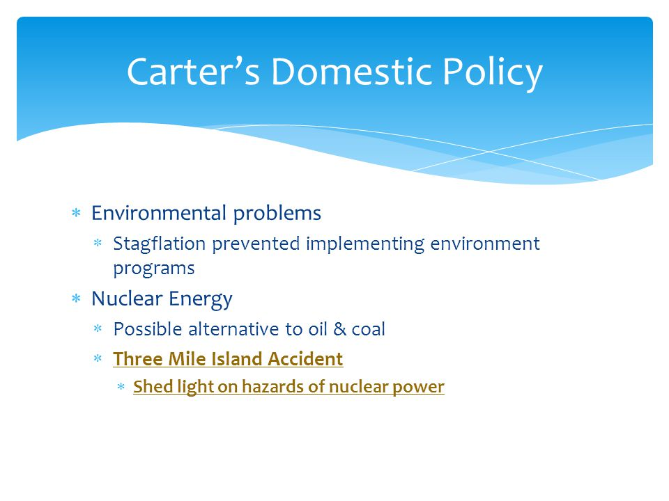 Carter's Domestic Policy