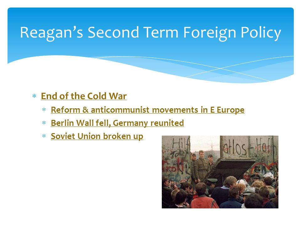 Reagan's Second Term Foreign Policy