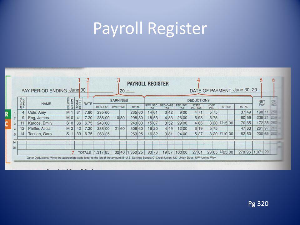 Payroll Register Pg 320