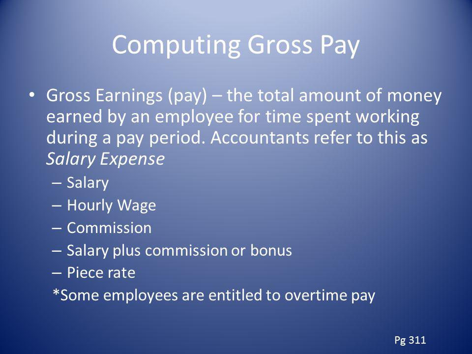 Computing Gross Pay