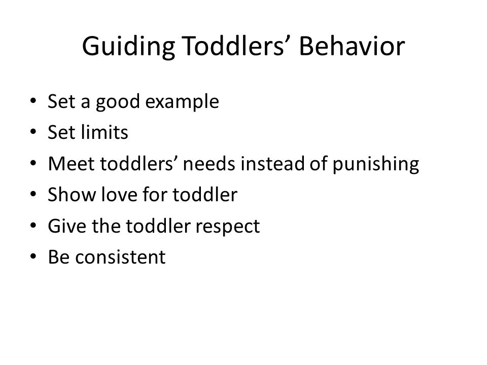 Guiding Toddlers' Behavior