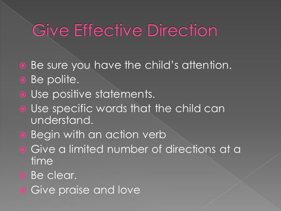 Give Effective Direction