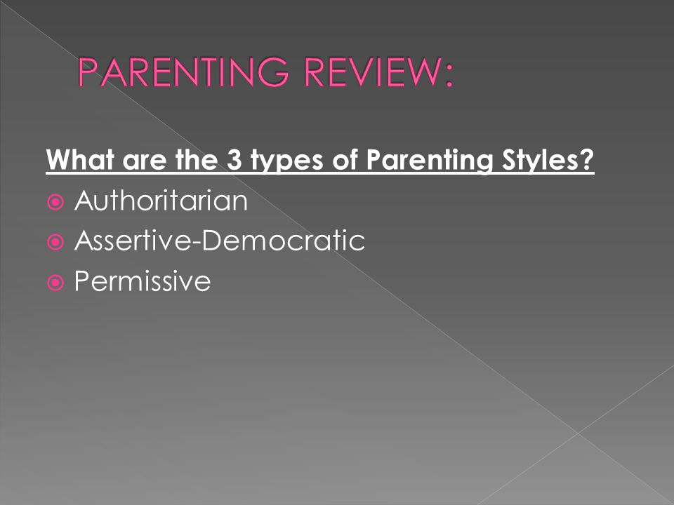 PARENTING REVIEW: What are the 3 types of Parenting Styles