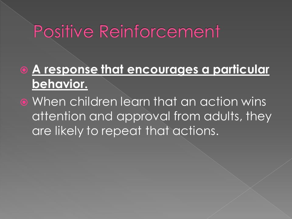 Adult behavior change positive reinforcement