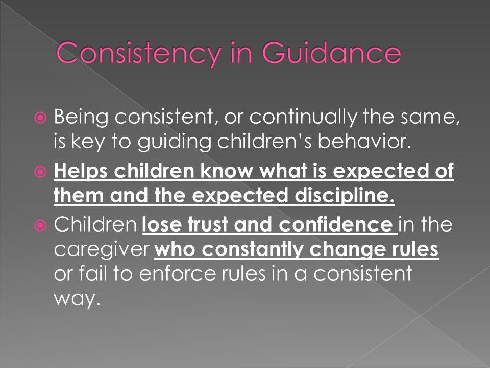Consistency in Guidance