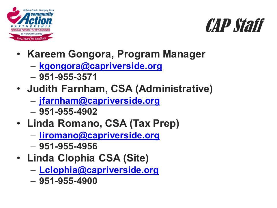 CAP Staff Kareem Gongora, Program Manager