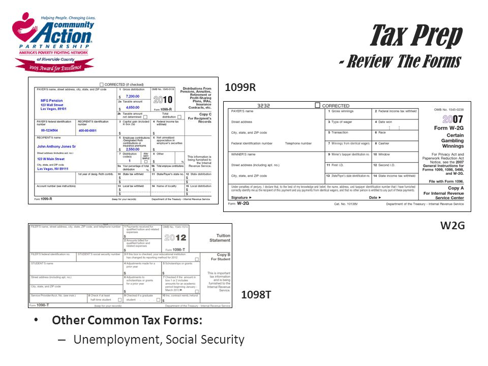 Tax Prep - Review The Forms