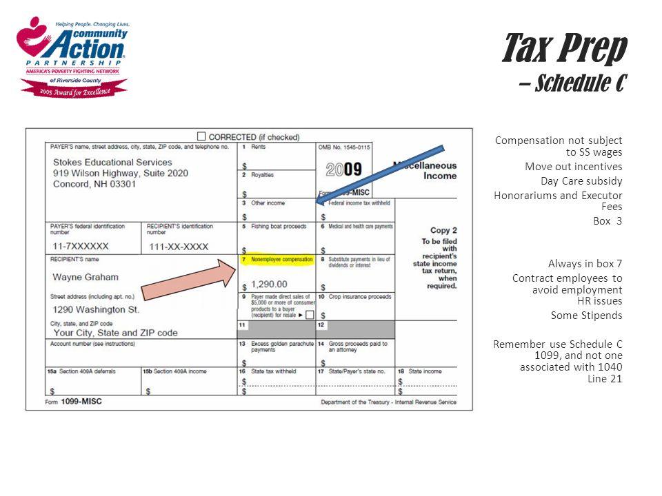 Tax Prep – Schedule C