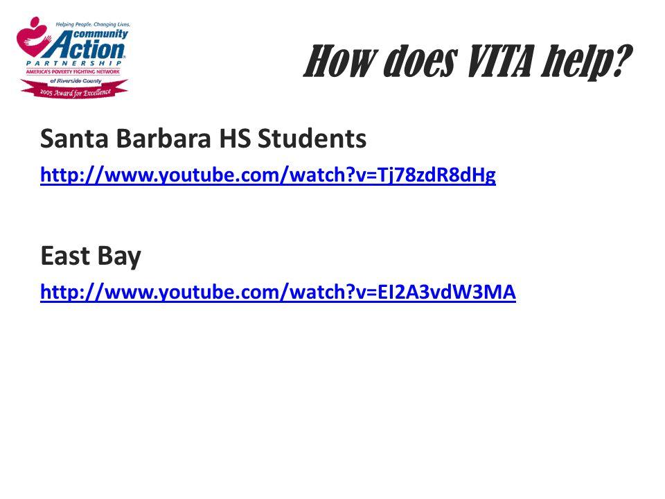 How does VITA help Santa Barbara HS Students East Bay