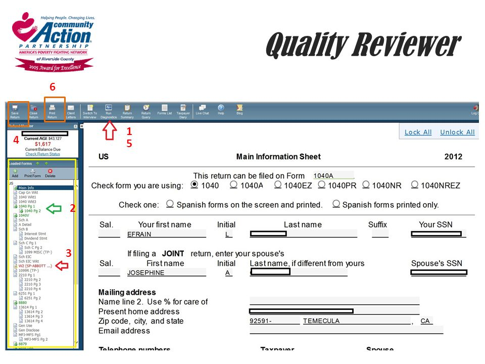 Quality Reviewer 6. 1. 4. 5. 2.