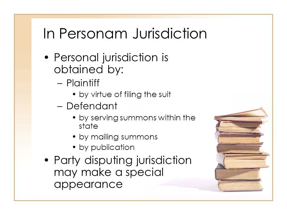 In Personam Jurisdiction