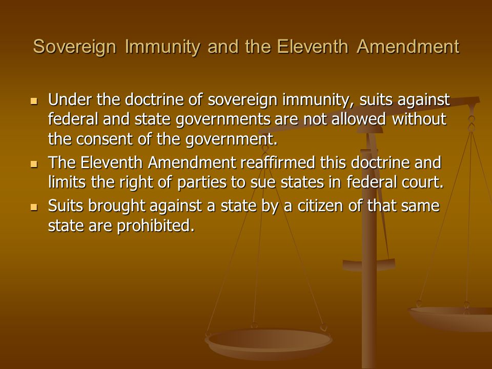 Sovereign Immunity and the Eleventh Amendment
