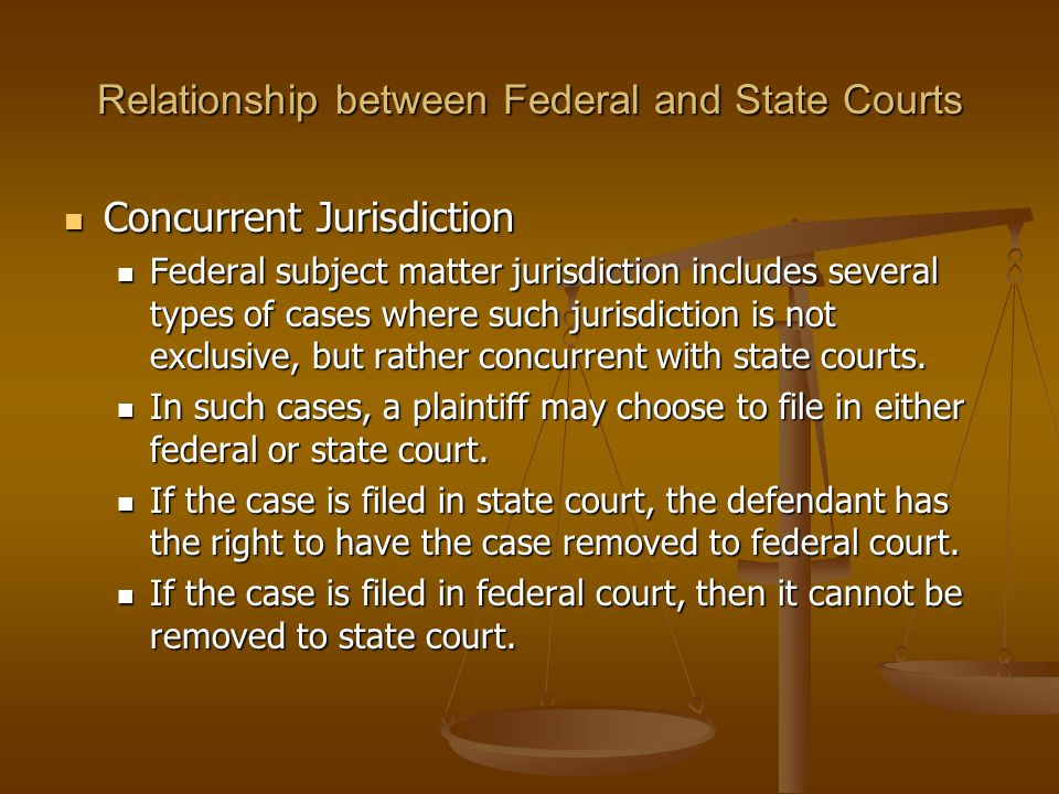 Relationship between Federal and State Courts