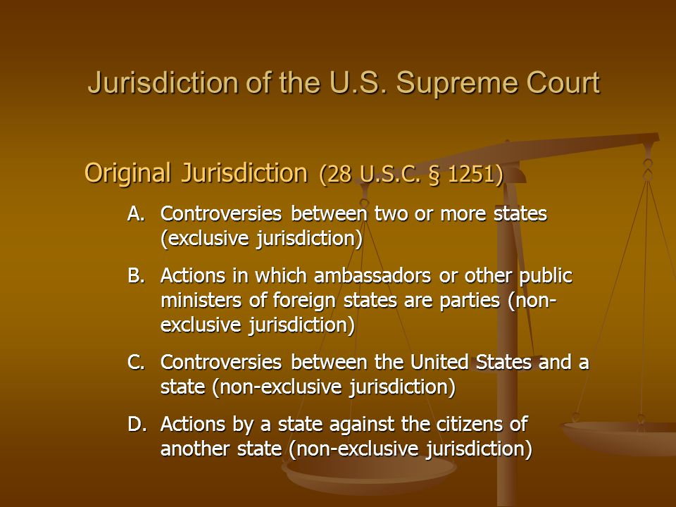 Jurisdiction of the U.S. Supreme Court