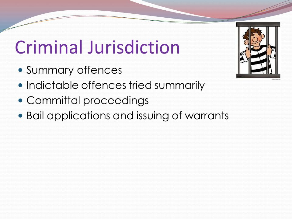 Criminal Jurisdiction