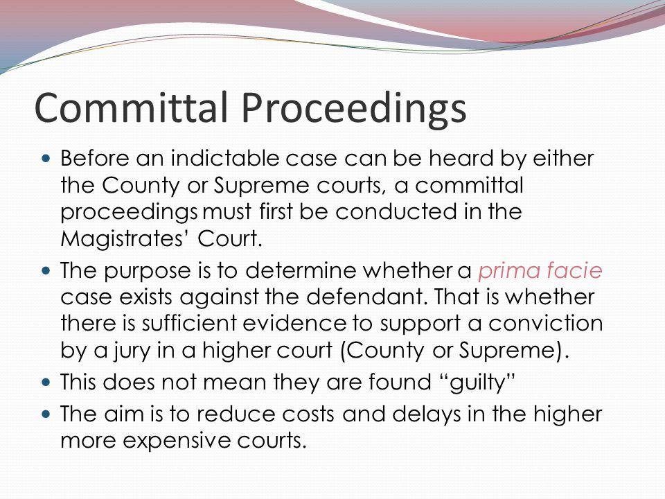 Committal Proceedings