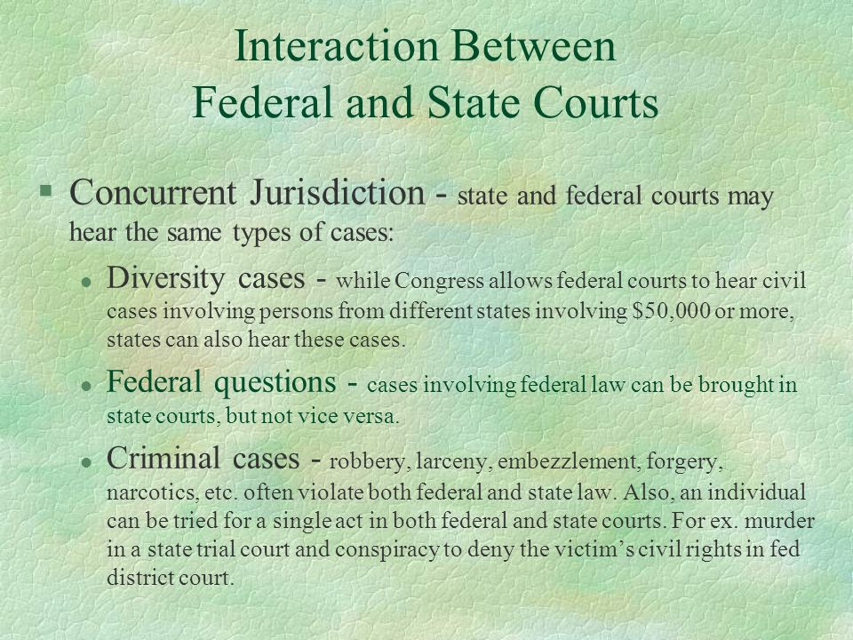 Interaction Between Federal and State Courts