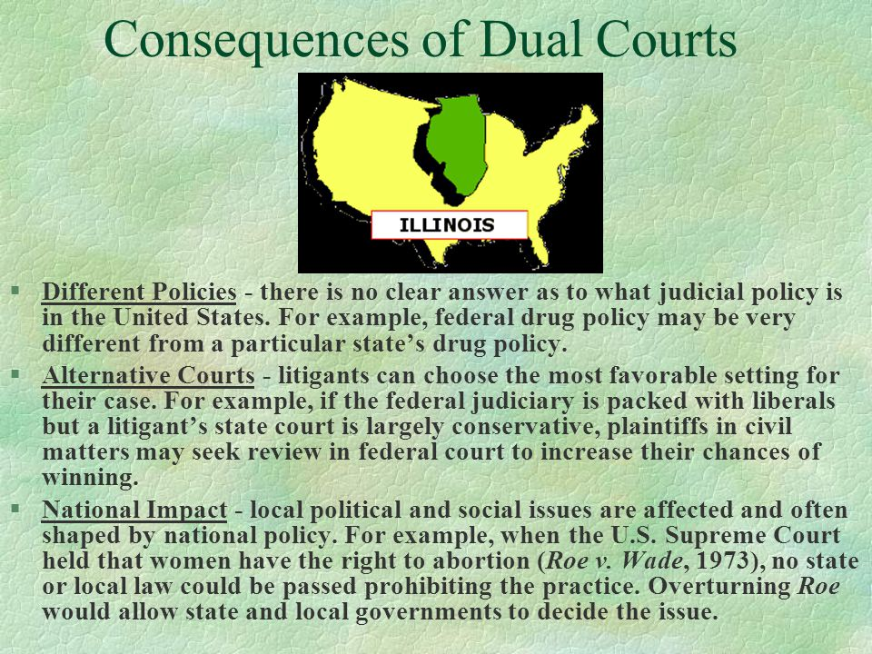Consequences of Dual Courts