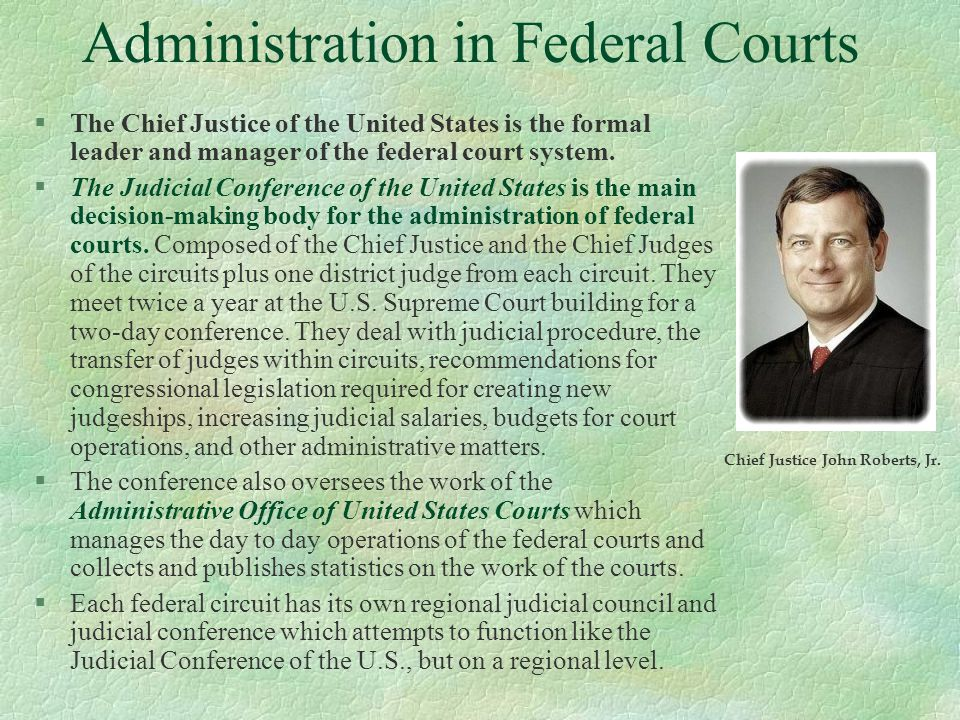 Administration in Federal Courts