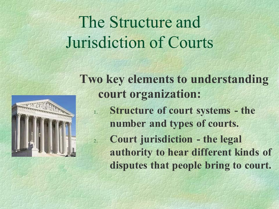 The Structure and Jurisdiction of Courts