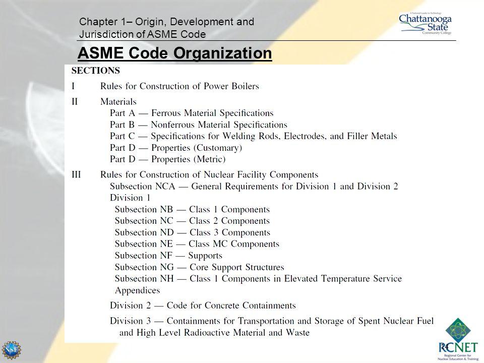 ASME Code Organization