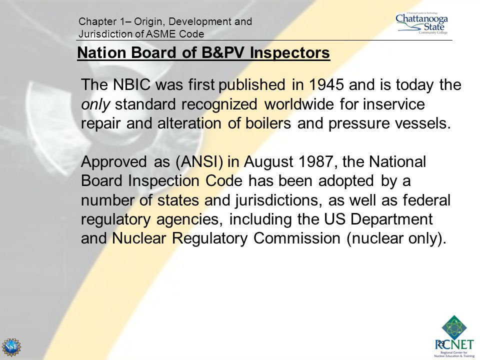 Nation Board of B&PV Inspectors